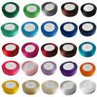 """22 Meters 18mm 3/4"""" Width Reel Premium Quality Single Faced Sided Satin Ribbons"""