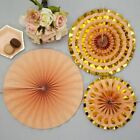 Peach Colour Block New Years Birthday Wedding Party Decorations Tableware