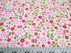 Payless Fabric Cotton Apparel Pink and Green Floral