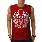 Western Cowboy Skull Guns Men Sleeveless T-shirt S-2xl New | Wellcoda