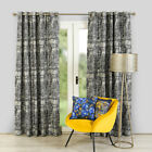 Scatter Box Romayo Chenille Jacquard Lined Eyelet Curtains, Navy