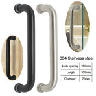 Black/Brushed Nickel Stainless Steel Door Handle Fit for glass and Timber Doors