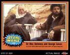 1977 Topps Star Wars #329 Sir Alec Guinness/George Lucas EX $3.25 USD