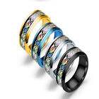 Latest Szie 6-9 Mens Male Colorful Dazzling Dragon Finger Ring Stainless Steel