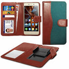 For alcatel Pop D1 - Clip On Fabric / PU Leather Wallet Case Cover