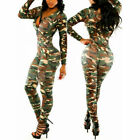 Women Overalls Sexy Rompers Jumpsuit Bodysuit Camo Catsuit Army Soldier Clothes