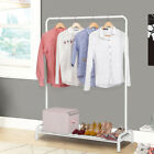 Heavy Duty Commercial Grade Clothing Garment Rack with Top Rod and Lower US Ship