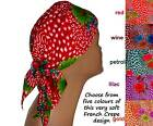 Soft Padded Chemo Headscarves, cancer, alopecia, hair loss. Choice of colours