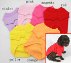 Plain Dog Shirt Cotton Pet Clothing Blank Pet Tees TShirt - Size XS S M L XL