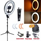 Dimmable 400W 34cm Ring Light w/ Color Fliter Camera iPhone Holder Stand 230V