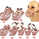 7 Sizes Adjustable Pet Dog No Bite Plastic Basket Muzzle Cage Mouth Mesh Cover