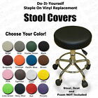 Stool Seat Cover Faux Leather Vinyl Round Chair Replacement Top - Dentist Office