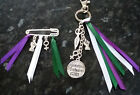 Feminist Awareness Ribbon Keyring Bag Charm Key Chain Kilt Pin Brooch