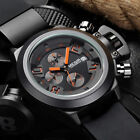 UK Megir Men's Black Chronograph Date Sport Quartz Military Army Wrist Watch NEW