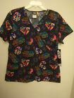 "WOMEN'S STAR WARS ""THE DARK SIDE"" DARTH VADAR MOCK WRAP SCRUB TOP SIZE M-3XL NWT $38.15 CAD"