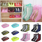 Portable Travel Outdoor Waterproof Tote Pouch Shoes Boots Storage Zip Bag Case