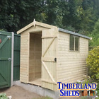 6x4 Heavy Duty Loglap Apex Shed Tanalised Treated T&G Storage Wooden Garden Shed