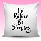 Personalised Sleeping Quote Cushion Cover Christmas Birthday Gift Teens Kids