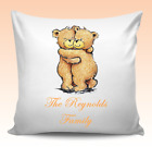 Personalised Cushion Couples Bears Cover Valentines Wedding Birthday Family Gift