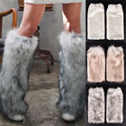 New Women Fluffy Fuzzy Faux Fur Fashion Dance Leg Warmers Muffs Boot Covers Pip