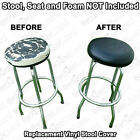 "Bar Stool Cover SLIP ON Vinyl Elastic Replacement Top With 1/4"" Foam Pad Insert"