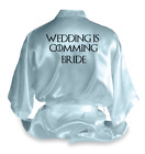 Personalised Game Of Thrones Satin Wedding Robe Dressing Gown Bride Gift