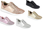 Girls Youth Kids Sequin Glitter Athletic Shoes Casual Walking Comfort Sneakers