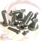 3mm 4mm 5mm 6mm Socket Button Head Screws - A2 Stainless Steel - Allen ISO 7380