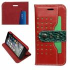 iPhone 8,7/PLUS Case, FS Genuine Leather Folio Wallet Cover, Card Slots