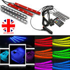 Led Rgb Car Interior Atmosphere Usb Lights Strip Colors Decor Lamps 12v Footwell