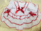 DREAM BABY XMAS NETTED LINED FRILLY SPANISH DRESS 0-3 MONTHS OR  REBORN DOLLS