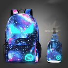 Fashion Night Lights Shoulder Schoolbag Travel Rucksack for Students Youth