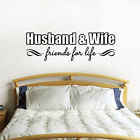 Husband & Wife Friends For Life Wall Sticker - Couples Wall Sticker