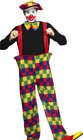 Hooped Clown Costume Adult Circus Theme Fancy Dress Costume