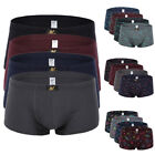 4Pcs Package Men's Underwear Bulge Pouch Trunks Boxer Briefs Cotton Underpants