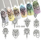 Nail Art Water Decals Stickers Transfers Bows Necklace Jewellery Lace Gems (500)