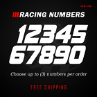 Racing Numbers Vinyl Decal Sticker | Dirt Bike Plate Number BMX Competition 500