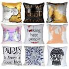Sequins Cushion Glitter Cover Throw Pillow Case Safa Home Decors Reversible UK