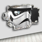 C106 Storm Star Trooper Wars Decal Canvas 3D Smashed Hole Wall Vinyl Stickers