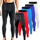 Mens Compression Pants Exercise Base Layer Leggings Gym Running Training Pants