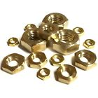 M4 M5 M6 M7 M8 M10 Metric Hexagon Brass HALF Nuts - Thin Lock Nut - DIN 439 SF