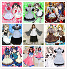 Love Live! Nozomi Tojo Eli Ayase Cosplay Costume Ladies Maid Dress Uniform Lot