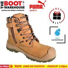 Puma Conquest WHEAT 630727. Safety Work Boot. Zip Side, Scuff Cap