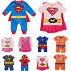 Toddler Baby Boy Girl Super Hero Romper Outfit Party Fancy Dress Costume Clothes