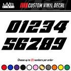 Racing Numbers Vinyl Decal Sticker | Dirt Bike Plate Number BMX Competition 502