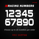 Racing Numbers Vinyl Decal Sticker | Dirt Bike Plate Number BMX Competition 503