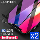 2x 6D Full Cover iPhone XS Max XR 8 7 Plus Screen Protector Tempered Glass Apple