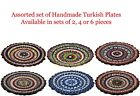 Set of Handmade Turkish Moroccan Mosaic Serving Dinner Decorative Fruits Plates
