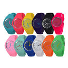 Women Sports Silicone Band Geneva Wrist Watch 12-Hour Dial Analog high quality image