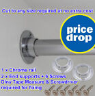Wardrobe Rail Wardrobe Round Hanging Rails 25mm With Free Ends & Screws